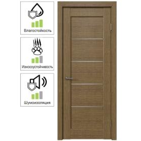 Дверь межкомнатная Дельта горизонтальная остеклённая ПВХ цвет ольха золотая 90x200 см (с замком и петлями)