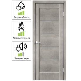 Дверь межкомнатная остеклённая «Сохо», 70x200 см, ПВХ, цвет лофт светлый, с фурнитурой