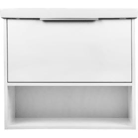 Тумба под раковину подвесная «Дана» 70 см цвет белый глянец