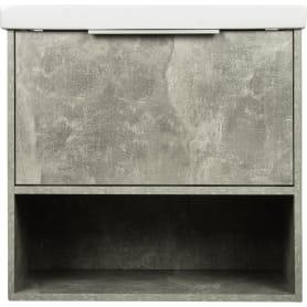 Тумба под раковину подвесная «Дана» 60 см цвет серый цемент