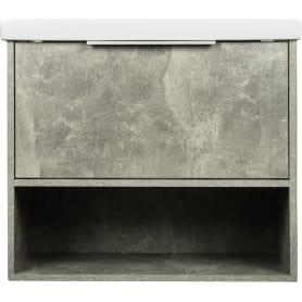 Тумба под раковину подвесная «Дана» 70 см цвет серый цемент