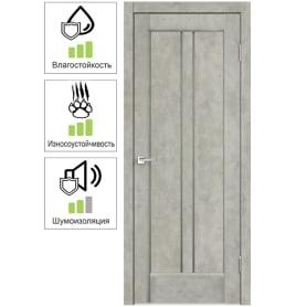 Дверь межкомнатная Сиэтл остеклённая ПВХ цвет лофт светлый 80x200 см (с замком и петлями)