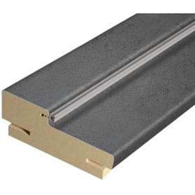 Дверная коробка телескопическая Сохо/Сиэтл 2100x74х30 мм ПВХ цвет лофт тёмный (комплект 2.5 шт.)