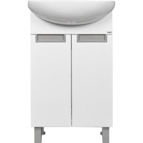 Тумба под раковину напольная «Венто» 50 см цвет белый
