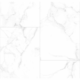 Комплект панелей ПВХ белый мрамор 8 мм 2700х375 мм 2.025 м² 2 шт
