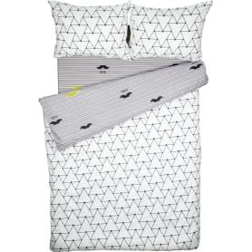 Комплект постельного белья Василиса Городские Джунгли полутораспальный поплин белый