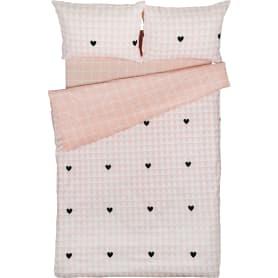 Комплект постельного белья Василиса Влюбленные сердца полутораспальный бязь розовый