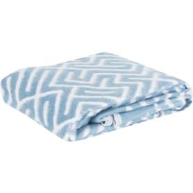Одеяло, байка, 150х200 см, цвет серый/синий