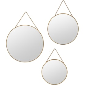 Зеркало декоративное, круг, 3 шт.