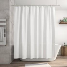 Штора для ванны Happy 240x200 см, полиэстер, цвет белый