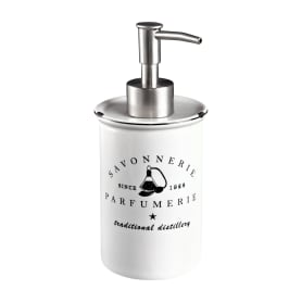 Дозатор для жидкого мыла Parfumer цвет белый/чёрный