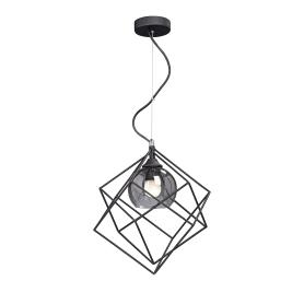 Люстра подвесная «Куб 3D», 1 лампа, 2 м², цвет чёрный