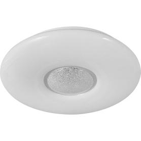 Светильник настенно-потолочный светодиодный Lazana 2074/DL с пультом управления, 14 м², регулируемый свет, цвет белый матовый