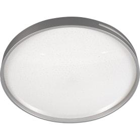 Светильник настенно-потолочный светодиодный Geta Silver 2076/DL с пультом управления, 14 м², регулируемый свет, цвет белый