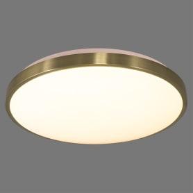 Светильник настенно-потолочный светодиодный Lota Bronze 2089/DL с пультом управления, 14 м², регулируемый свет, цвет белый