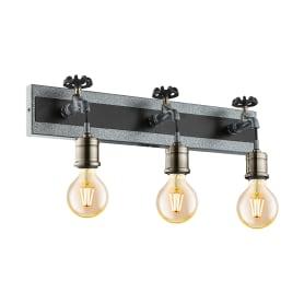 Бра Сoldcliff 3 лампы, цвет чёрный/сталь