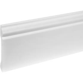 Плинтус напольный Дюрополимер под покраску белый 80мм 2м