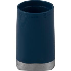 Стакан для зубных щёток Gloss пластик цвет тёмно-синий