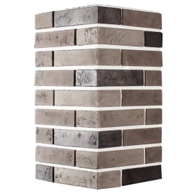 Плитка декоративная Терамо Брик угловая, цвет чёрный, 1.21 м²