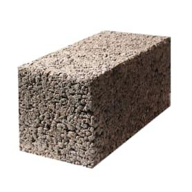 Блок стеновой керамзитобетонный полнотелый 390х190х188 мм