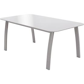 Стол садовый Alma 85x45x35 см сталь/стекло серый