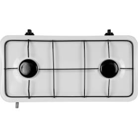 Плита газовая Ore LGM30, 47.5 см, 2 конфорки чугун, цвет белый