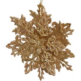 Украшение новогоднее «Снежинка Классика», пластик, цвет золотой