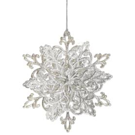 Украшение новогоднее «Снежинка Классика», 4 см, пластик, цвет серебро