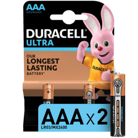 Батарейка алкалиновая Duracell Ultra Power AAA, 2 шт.