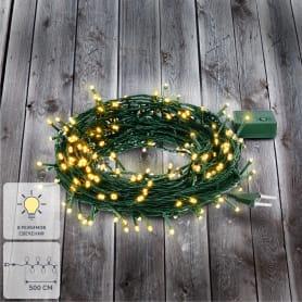 Электрогирлянда светодиодная Balance «Нить» для дома 50 ламп 5 м, цвет тёплый белый