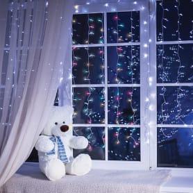 Электрогирлянда светодиодная Balance «Занавес» для дома 156 ламп 1.5 м, цвет мультиколор