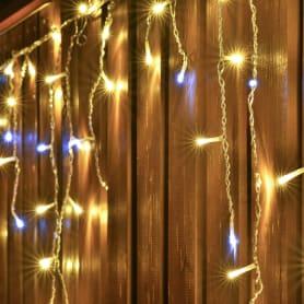 Электрогирлянда светодиодная Balance «Бахрома» для улицы 72 лампы 3 м, цвет тёплый белый