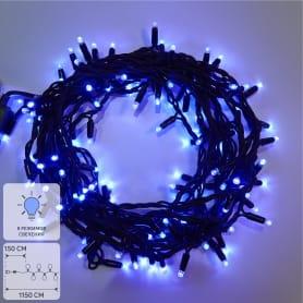 Электрогирлянда светодиодная для улицы Uniel 120 ламп 10 м свет синий