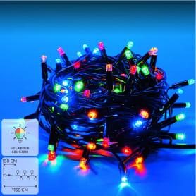Электрогирлянда светодиодная для улицы Uniel 120 ламп 10 м свет мультиколор