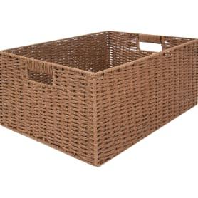 Корзина мягкая, 450x330x210 мм, 31 л, бамбук, цвет коричневый