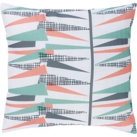 Подушка «Разноцветные треугольники», 40x40 см, цвет белый