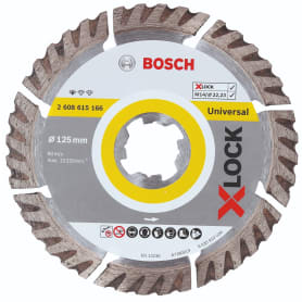 Диск алмазный по граниту сегментированный Bosch X-lock Universal, 125x22.23 мм
