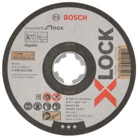 Диск отрезной по металлу Bosch X-lock Inox, 125x1x22.23 мм