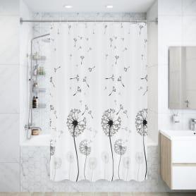 Штора для ванной комнаты «Одуванчик», 180х200 см, полиэстер, цвет белый