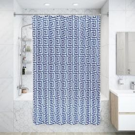 Штора для ванной комнаты «Лабиринт», 180х200 см, полиэстер, цвет белый