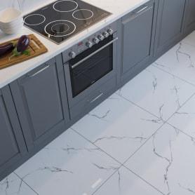 Керамогранит Softmarble 60x60 см 1.44 м² цвет белый