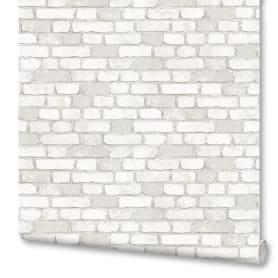 Обои флизелиновые Marburg Brique белые 1.06 м 97987