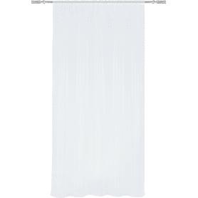 Тюль на ленте, 140x260 см, однотон, цвет белый