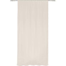 Тюль на ленте, 140x260 см, однотон, цвет кремовый