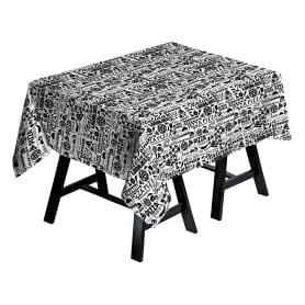 Скатерть 145x150 см, цвет чёрный/белый