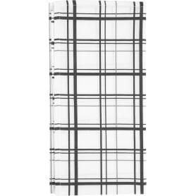 Скатерть 145x180 см, цвет чёрный/белый