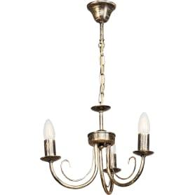 Люстра подвесная «Рустика», 3 лампы, 15 м², цвет античная бронза