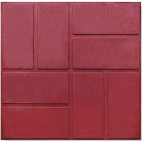 Плитка тротуарная, 330x330x20 мм, цвет красный