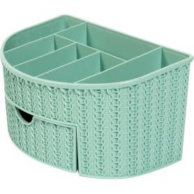 Органайзер для ванной комнаты «Вязание» цвет морская волна