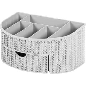 Органайзер для ванной комнаты «Вязание» цвет серый